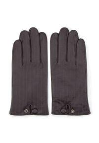Brązowe rękawiczki Wittchen eleganckie