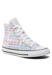 Converse Trampki Ctas Hi 170107C Biały. Kolor: biały