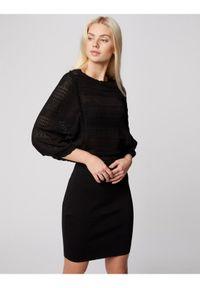 Czarna sukienka Morgan prosta, na co dzień