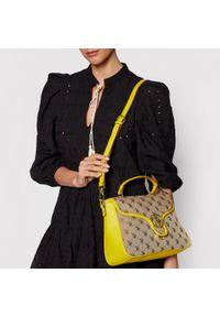 U.S. Polo Assn - Torebka U.S. POLO ASSN. - Lady Lake Handle Flap Bag BEUKG5227WJP300 Jacquard/Yellow. Kolor: zielony, brązowy, wielokolorowy. Materiał: skórzane. Styl: klasyczny