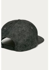 Szara czapka z daszkiem Vans z nadrukiem