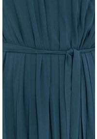Samsoe & Samsoe - Samsoe Samsoe - Sukienka. Okazja: na co dzień. Kolor: zielony. Materiał: tkanina, poliester. Długość rękawa: na ramiączkach. Wzór: gładki. Typ sukienki: proste, plisowane. Styl: casual #5