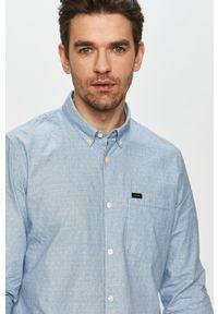 Niebieska koszula Lee długa, na co dzień