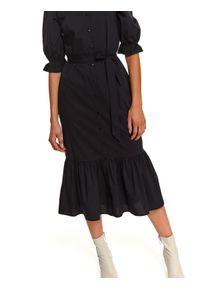 Czarna sukienka TOP SECRET koszulowa