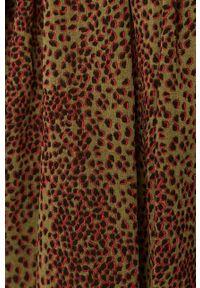Vero Moda - Sukienka. Kolor: zielony. Długość rękawa: długi rękaw