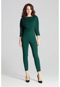 Zielony kombinezon Katrus elegancki