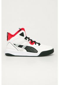 Puma - Buty Backcourt Mid. Nosek buta: okrągły. Zapięcie: sznurówki. Kolor: biały. Szerokość cholewki: normalna
