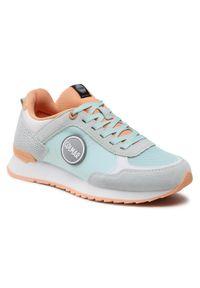 Colmar - Sneakersy COLMAR - Travis Colors 138 Lt Blue/Peach. Kolor: zielony. Materiał: zamsz, materiał, skóra. Szerokość cholewki: normalna. Obcas: na płaskiej podeszwie