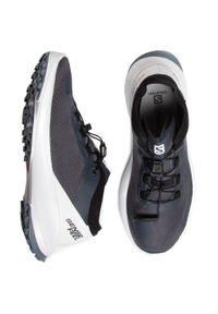 Szare buty do biegania salomon na co dzień, z cholewką