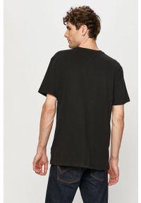 Czarny t-shirt Tommy Jeans na co dzień, z nadrukiem, casualowy