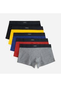 Kolorowe bokserki 5 pack - Żółty
