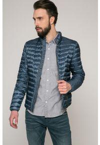 Niebieska kurtka Geox gładkie, casualowa