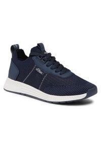 s.Oliver - Sneakersy S.OLIVER - 5-13603-26 Navy 805. Okazja: na co dzień. Kolor: niebieski. Materiał: skóra ekologiczna, materiał. Szerokość cholewki: normalna. Styl: casual