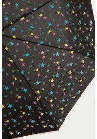 Czarny parasol Answear Lab z nadrukiem