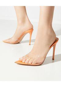 GIANVITO ROSSI - Pomarańczowe szpilki Elle. Kolor: pomarańczowy. Obcas: na szpilce