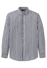 Czarna koszula bonprix w paski, klasyczna