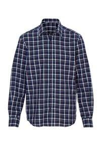 Cellbes Koszula granatowy w kratkę male niebieski/ze wzorem S. Kolor: niebieski. Materiał: tkanina. Długość rękawa: długi rękaw. Długość: długie. Wzór: kratka