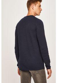 Niebieski sweter Jack & Jones z okrągłym kołnierzem, na co dzień, casualowy