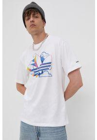 adidas Originals - T-shirt bawełniany. Okazja: na co dzień. Kolor: biały. Materiał: bawełna. Styl: casual