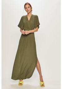 Zielona sukienka Silvian Heach klasyczna, na co dzień, prosta