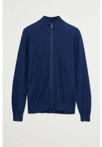 Niebieski sweter rozpinany Mango Man