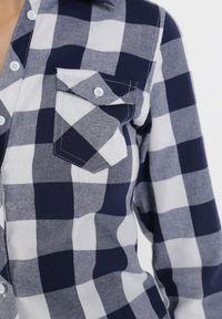 Born2be - Granatowo-Biała Koszula Siniaphe. Kolor: niebieski