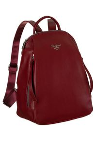 DAVID JONES - Plecak damski bordowy David Jones 6607-2A D.RED. Kolor: czerwony. Materiał: skóra ekologiczna
