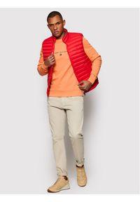 TOMMY HILFIGER - Tommy Hilfiger Bluza Essential MW0MW17383 Pomarańczowy Regular Fit. Kolor: pomarańczowy