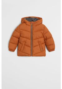 Pomarańczowa kurtka Mango Kids z kapturem