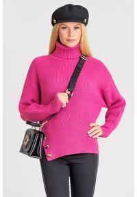 Sweter Elisabetta Franchi na spacer, z golfem