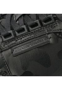 Emporio Armani - Sneakersy EMPORIO ARMANI - X4X536 XD222 K001 Black/Black. Kolor: czarny. Materiał: materiał. Szerokość cholewki: normalna