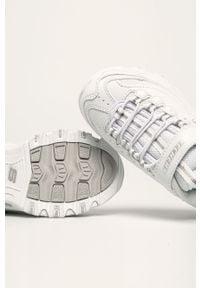 Białe buty sportowe skechers z cholewką, na rzepy