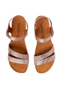 Złote sandały Lasocki na co dzień, casualowe
