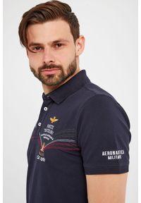 Koszulka polo Aeronautica Militare sportowa, polo, w jednolite wzory