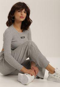 Szare spodnie materiałowe Renee