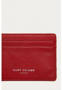 Kurt Geiger London - Portfel skórzany. Kolor: czerwony. Materiał: skóra. Wzór: gładki