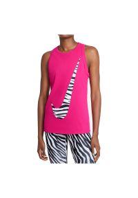 Koszulka damska Nike Dri-FIT Icon Clash DB9799. Materiał: poliester, bawełna, materiał. Technologia: Dri-Fit (Nike). Wzór: motyw zwierzęcy, nadruk, gładki. Sport: fitness