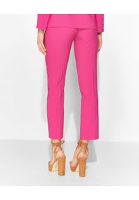 CATERINA - Różowe cygaretki z metalowym zdobieniem. Kolor: różowy, fioletowy, wielokolorowy. Materiał: materiał. Wzór: aplikacja. Styl: elegancki, klasyczny