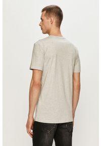 Szary t-shirt Quiksilver z nadrukiem, casualowy