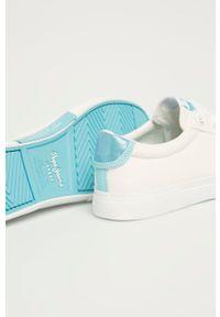 Pepe Jeans - Tenisówki Kenton Basss. Nosek buta: okrągły. Zapięcie: sznurówki. Kolor: biały. Materiał: guma