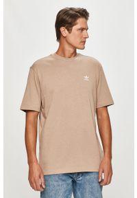 T-shirt adidas Originals casualowy, z nadrukiem, z okrągłym kołnierzem