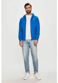 Niebieska bluza rozpinana Lacoste z kapturem, gładkie #5