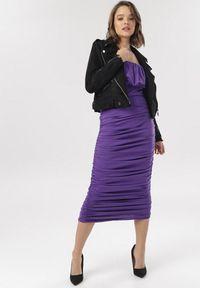 Born2be - Ciemnofioletowa Sukienka Shirinyra. Kolor: fioletowy