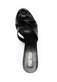 PARIS TEXAS - Czarne klapki na szpilce. Kolor: czarny. Obcas: na szpilce. Wysokość obcasa: niski