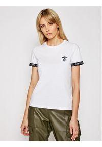 T-shirt z krótkim rękawem Aeronautica Militare. Kolor: biały. Materiał: bawełna. Długość rękawa: krótki rękaw. Długość: krótkie