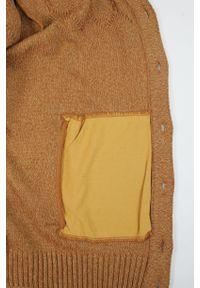 Lasota - Sweter Brązowy Elegancki Kardigan, Zapinany na Guziki -LASOTA- Męski. Okazja: na co dzień. Kolor: brązowy, wielokolorowy, beżowy. Materiał: bawełna, akryl. Styl: elegancki #4