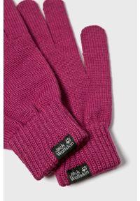 Różowe rękawiczki Jack Wolfskin