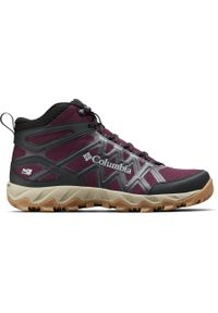 Różowe buty trekkingowe columbia