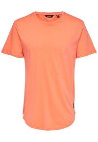 Only & Sons - ONLY & SONS T-Shirt Matt 22002973 Pomarańczowy Regular Fit. Kolor: pomarańczowy #3