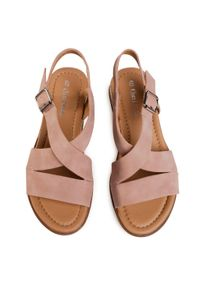 Różowe sandały Clara Barson casualowe, na co dzień
